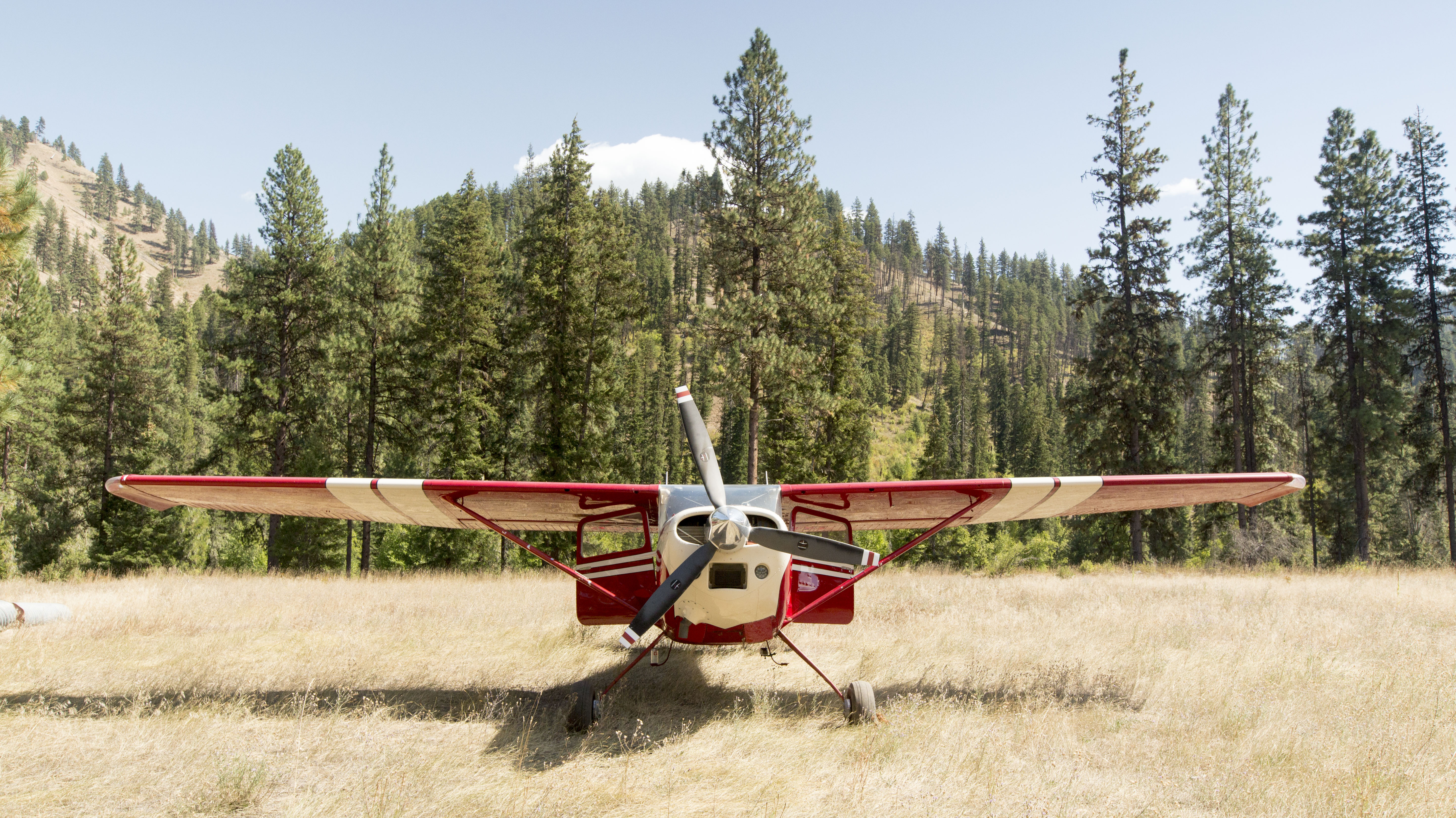 Cessna 180 Parked in the Idaho backcountry