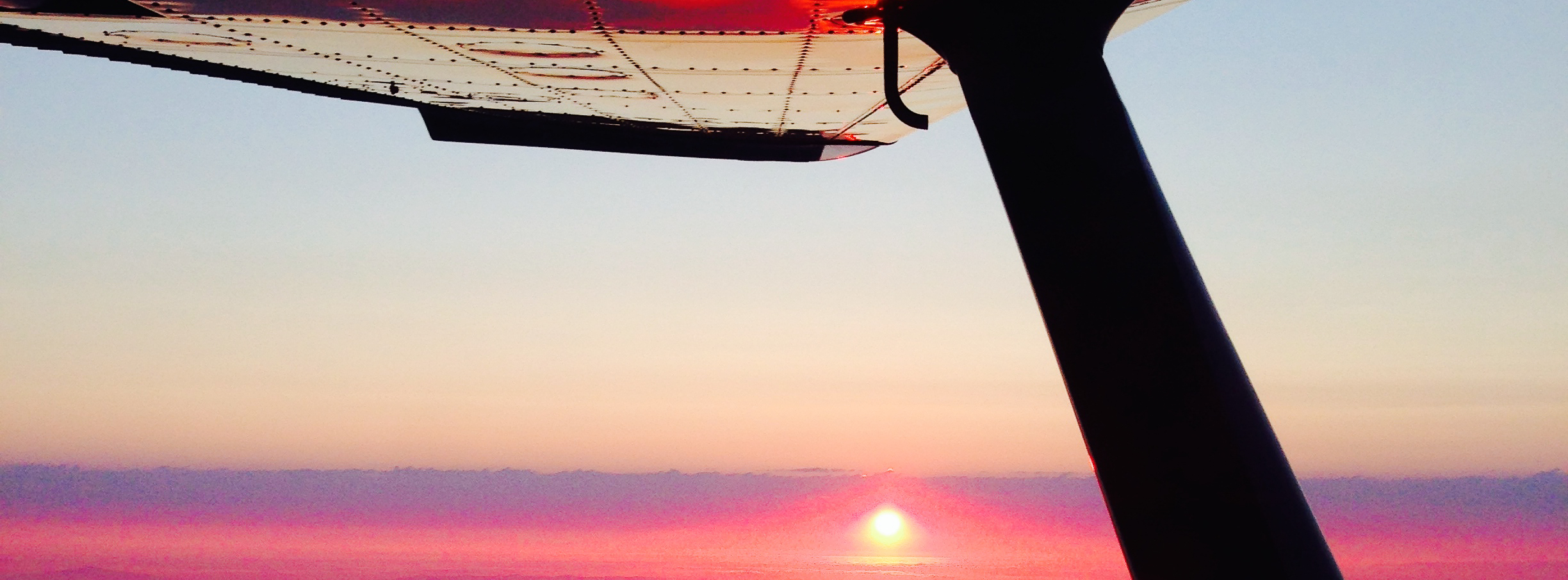 Sunset from the Air in a Cessna 180
